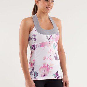 Lululemon Blurred Blossom Floral Scoop Neck Tank